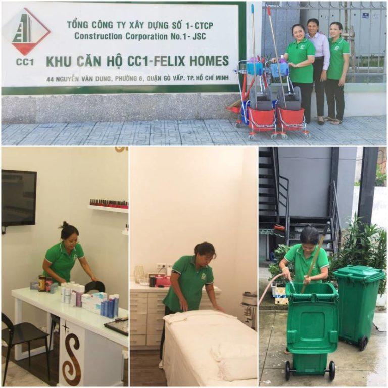 nhân viên công ty vệ sinh hm